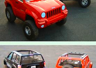 Jeep Trail Rated Commercial Custom Fabricated Miniature Jeeps