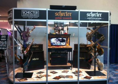 NAMM Schecter Display Custom Guitar Stands