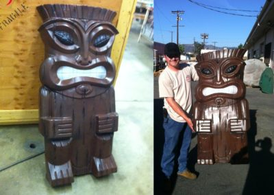 Vacuform Tiki Sculpture